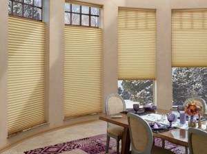 New honeycomb shades by Hunter Douglas are more energy efficient.