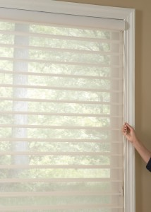 Tilt blinds for light and privacy.