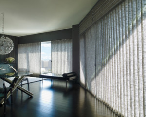 Vignette Traversed Window Treatments for Large Windows