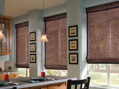 Hunter Douglas Provenance Woven Wood Shades in Marsala