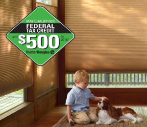 Federal Tax Credit for Hunter Douglas Shades