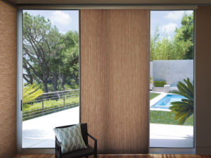Applause®  Vertiglide™ Honeycomb Shade on Sliding Door